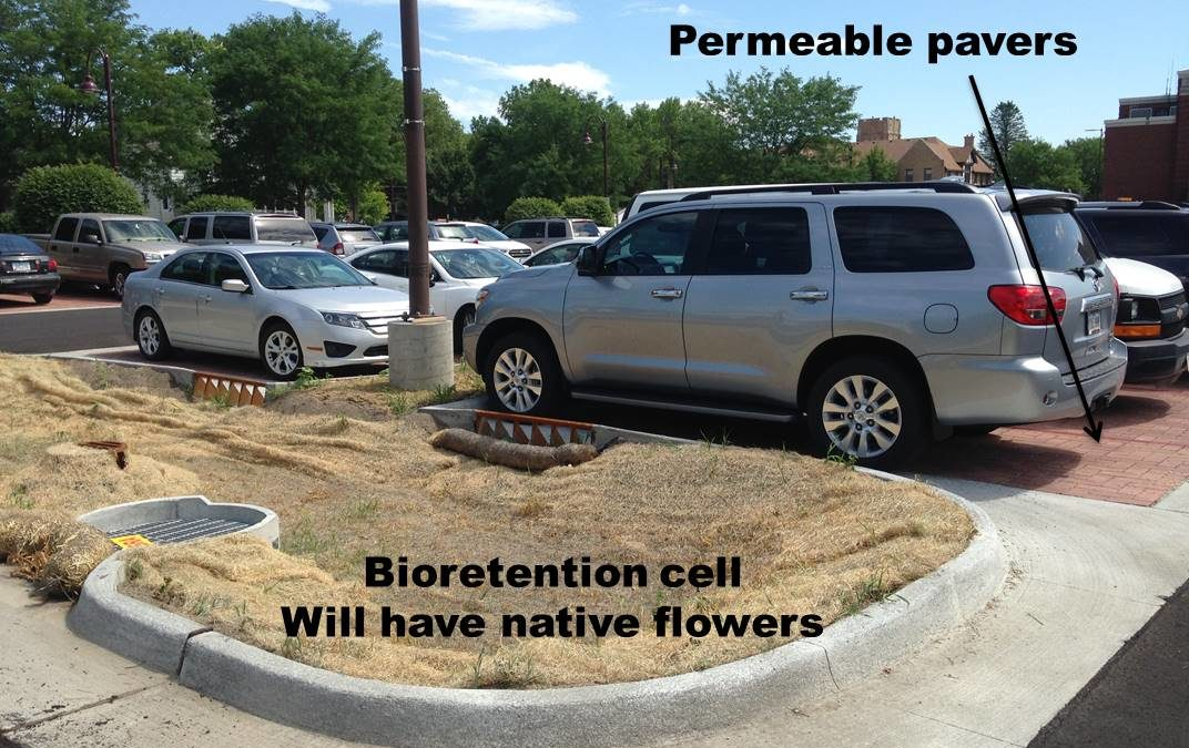 Upgrade your sewage treatment plant, get a free bioswale!