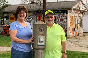 Mary Helen Preston and Garry Havalow Outside of Preston's Station Historic District