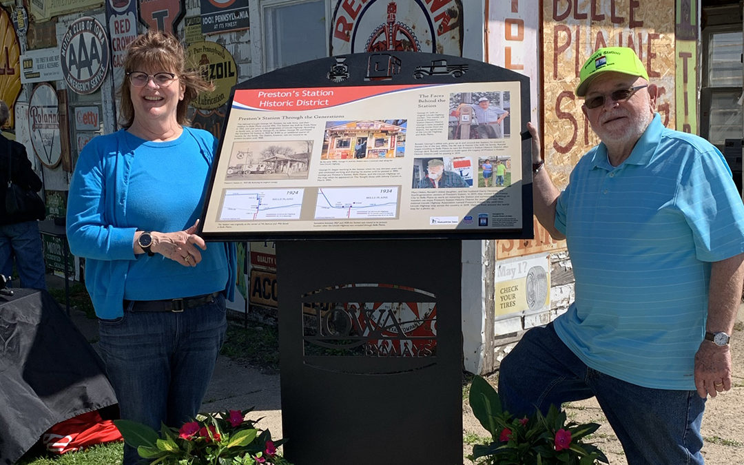 Prairie Rivers of Iowa Unveils Two Interpretive Panels Showcasing History and Geography Along the Lincoln Highway Heritage Byway